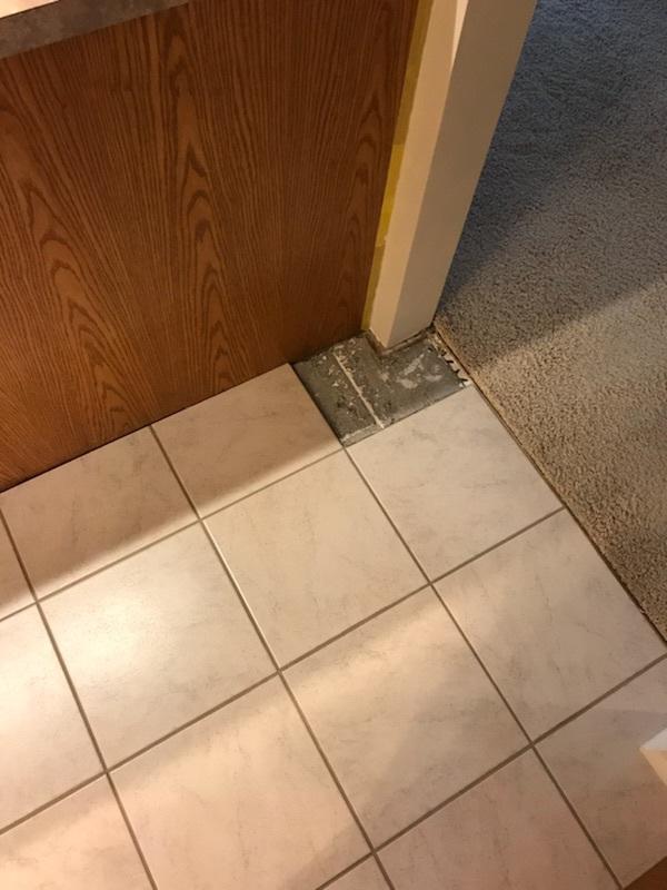Tile Repair Before